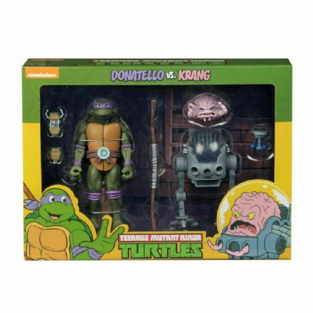 NECA Teenage Mutant Ninja Turtles Cartoon Action Figure 2 Pack - Donatello vs. Krang